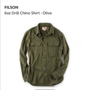 Filson 6 oz chino drill shirt